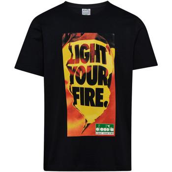 Textil Homem T-Shirt mangas curtas Diadora 502175837 Preto