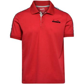 Textil Homem Polos mangas curta Diadora 102175672 Vermelho