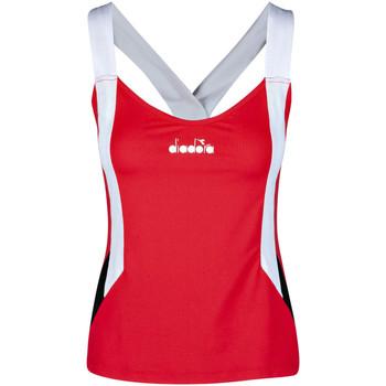 Textil Mulher Tops sem mangas Diadora 102175658 Vermelho