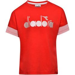 Textil Criança T-Shirt mangas curtas Diadora 102175914 Vermelho