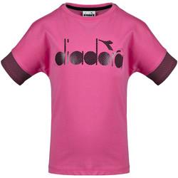 Textil Criança T-Shirt mangas curtas Diadora 102175914 Rosa