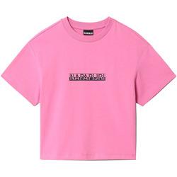 Textil Mulher T-Shirt mangas curtas Napapijri NP0A4FHG Rosa