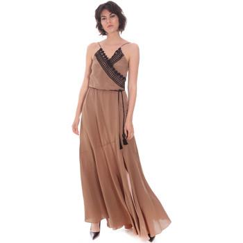 Textil Mulher Vestidos compridos Cristinaeffe 0704 2498 Bege
