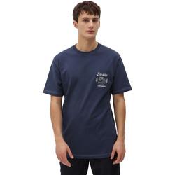 Textil Homem T-Shirt mangas curtas Dickies DK0A4X9NNV01 Azul