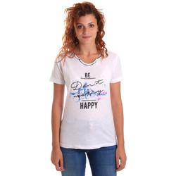 Textil Mulher T-Shirt mangas curtas Key Up 5G63S 0001 Branco