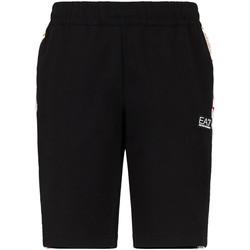 Textil Homem Shorts / Bermudas Ea7 Emporio Armani 3KPS81 PJ05Z Preto