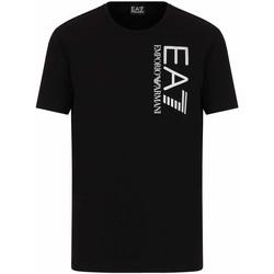 Textil Homem T-Shirt mangas curtas Ea7 Emporio Armani 3KPT10 PJ7RZ Preto