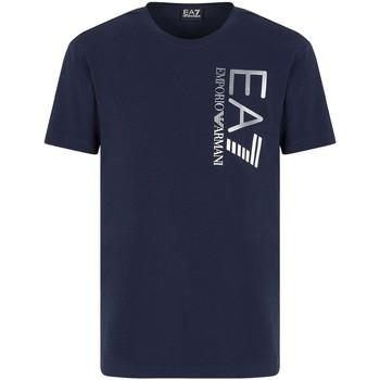Textil Homem T-Shirt mangas curtas Ea7 Emporio Armani 3KPT10 PJ7RZ Azul