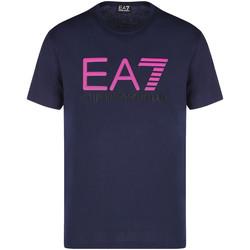 Textil Homem T-Shirt mangas curtas Ea7 Emporio Armani 3KPT78 PJACZ Azul