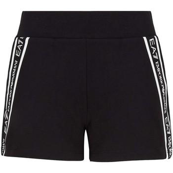 Textil Mulher Shorts / Bermudas Ea7 Emporio Armani 3KTS59 TJ5FZ Preto