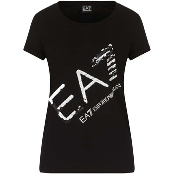 Textil Mulher T-Shirt mangas curtas Ea7 Emporio Armani 3KTT28 TJ12Z Preto