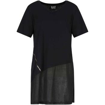 Textil Mulher T-Shirt mangas curtas Ea7 Emporio Armani 3KTT36 TJ4PZ Preto