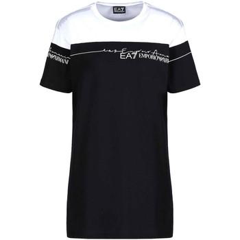 Textil Mulher T-Shirt mangas curtas Ea7 Emporio Armani 3KTT59 TJBEZ Preto