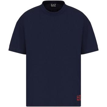 Textil Homem T-Shirt mangas curtas Ea7 Emporio Armani 3KPT58 PJ02Z Azul