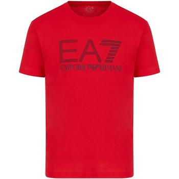 Textil Homem T-Shirt mangas curtas Ea7 Emporio Armani 3KPT81 PJM9Z Vermelho