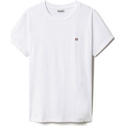 Textil Mulher T-Shirt mangas curtas Napapijri NP0A4FAC Branco