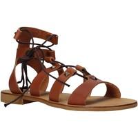 Sapatos Mulher Sandálias Keys K-4880 Castanho
