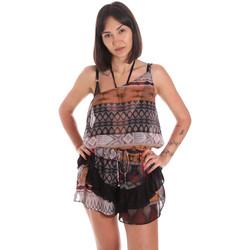 Textil Mulher Macacões/ Jardineiras Me Fui M20-0060X1 Castanho