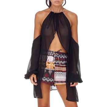 Textil Mulher Tops / Blusas Me Fui M20-0053NR Preto