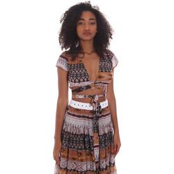 Textil Mulher Tops / Blusas Me Fui M20-0051X1 Castanho