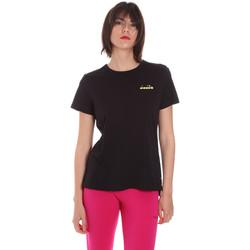 Textil Mulher T-Shirt mangas curtas Diadora 102175882 Preto
