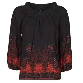 Textil Mulher Tops / Blusas Desigual EIRE Preto / Vermelho