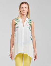 Textil Mulher Tops / Blusas Desigual FILADELFIA Branco / Verde