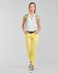 Textil Mulher Calças Desigual ALBA Amarelo