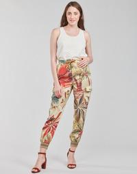 Textil Mulher Calças finas / Sarouels Desigual TOUCHE Multicolor