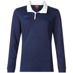 Textil Mulher Polos mangas compridas Canterbury  Azul