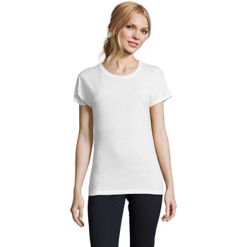 Textil Mulher T-Shirt mangas curtas Sols CAMISETA MUJER SUBLIMACION Blanco
