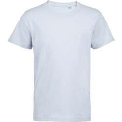 Textil Criança T-Shirt mangas curtas Sols Camiseta de niño con cuello redondo Azul