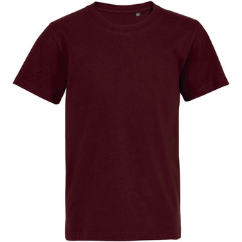 Textil Criança T-Shirt mangas curtas Sols Camiseta de niño con cuello redondo Burdeo