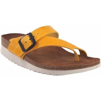 Sapatos Mulher Sandálias Interbios Sandália de senhora  7119 mg mostarda Amarelo