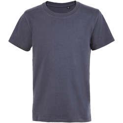 Textil Criança T-Shirt mangas curtas Sols Camiseta de niño con cuello redondo Gris