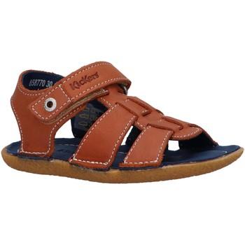 Sapatos Criança Sandálias Kickers 858770-30 PEPNUT Marr?n