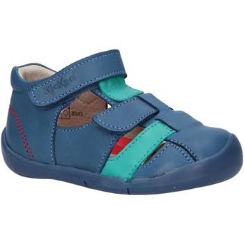 Sapatos Criança Sandálias Kickers 858390-10 WASABOU Azul