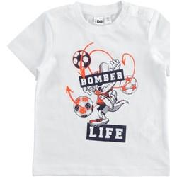 Textil Rapaz T-Shirt mangas curtas Ido 42041 Branco