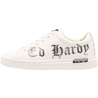 Sapatos Homem Sapatilhas Ed Hardy - Script low top white-gun metal Branco