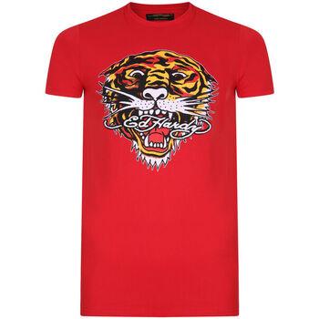 Textil Homem T-Shirt mangas curtas Ed Hardy - Tiger mouth graphic t-shirt red Vermelho