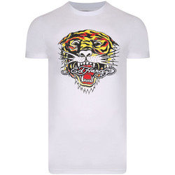 Textil Homem T-Shirt mangas curtas Ed Hardy - Tiger mouth graphic t-shirt white Branco