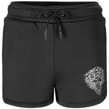 Textil Mulher Shorts / Bermudas Ed Hardy - Tiger glow runner short black Preto
