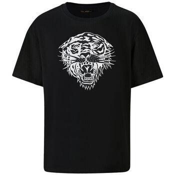 Textil Homem T-Shirt mangas curtas Ed Hardy - Tiger-glow t-shirt black Preto