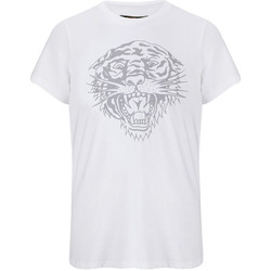 Textil Homem T-Shirt mangas curtas Ed Hardy - Tiger-glow t-shirt white Branco