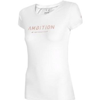 Textil Mulher T-Shirt mangas curtas 4F TSD033 Branco