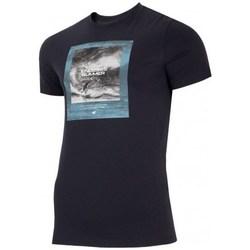 Textil Homem T-Shirt mangas curtas 4F TSM028 Preto