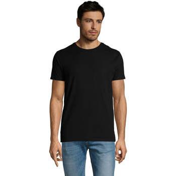 Textil Homem T-Shirt mangas curtas Sols Martin camiseta de hombre Negro
