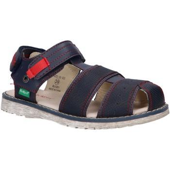 Sapatos Rapaz Sandálias Kickers 694203-10 PEPSTER Azul
