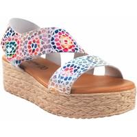 Sapatos Mulher Sandálias Eva Frutos Sandália de senhora  724 bl.azu Vermelho