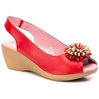 Sapatos Mulher Sandálias Cbp - Conbuenpie Sandalia de piel de mujer by TROPPA (R.ST) Rouge